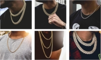 What are the different styles of gold chains?