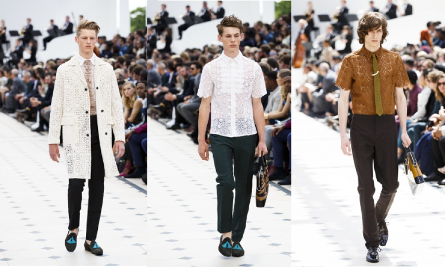 Made in the UK: Burberry 'strait-laced' menswear collection celebrates best of British craftsmanship