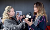 Berenice Marlohe in Ewa Minge's outfits and Kazar accessories at the Gdynia Film Festival
