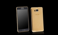 A gold-plated Samsung Galaxy Alpha