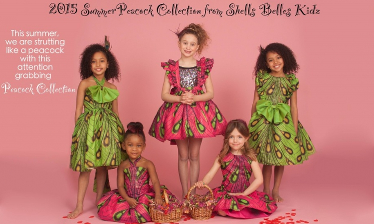 Shells Belles Kidz Debuts Their Summer 2015 Peacock Collection